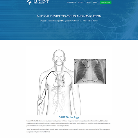 picture of lucent medical systems website